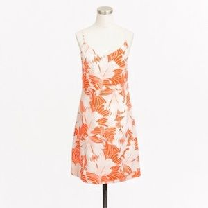 NWT J.Crew Persimmon Ivory Fan Printed Dress 6